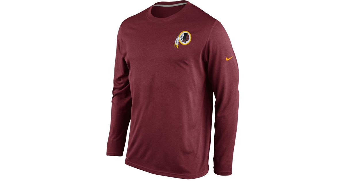 fdabb629a Lyst - Nike Men's Long-sleeve Washington Redskins Dri-fit T-shirt in Purple  for Men