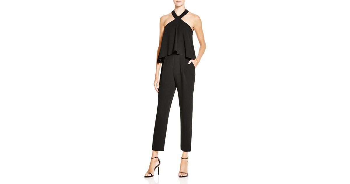 5d909a744316 Lyst - Trina Turk Micaela Crepe Jumpsuit in Black
