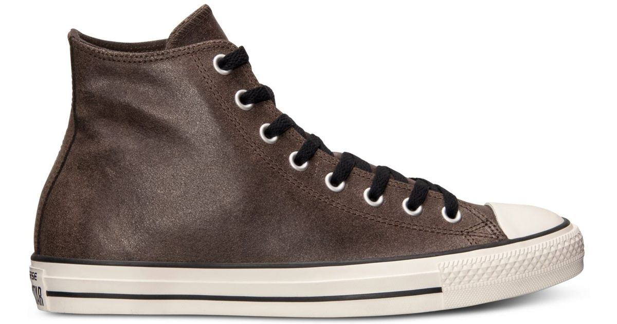87421185ced Lyst - Converse Men S All Star Vintage Leather Hi Casual Sneakers From  Finish Line in Brown for Men