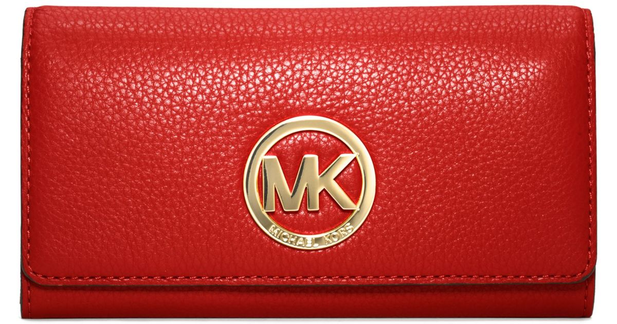 412d43993d18 Lyst - Michael Kors Michael Fulton Carryall Wallet in Red