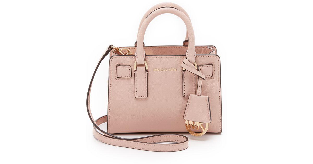 8f2385c94 MICHAEL Michael Kors Dillon Saffiano-Leather Cross-Body Bag in Pink - Lyst