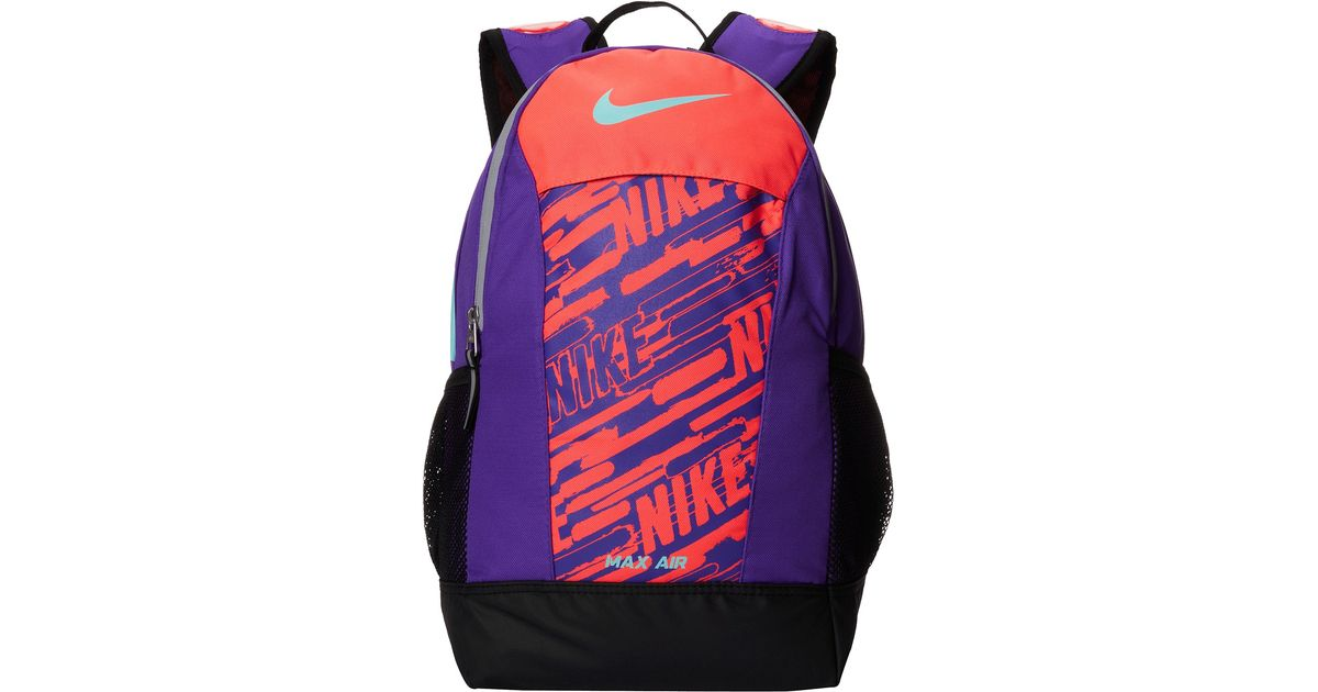6840f18489cb Lyst - Nike Max Air Team Training Small Backpack (Young Athletes) in Purple