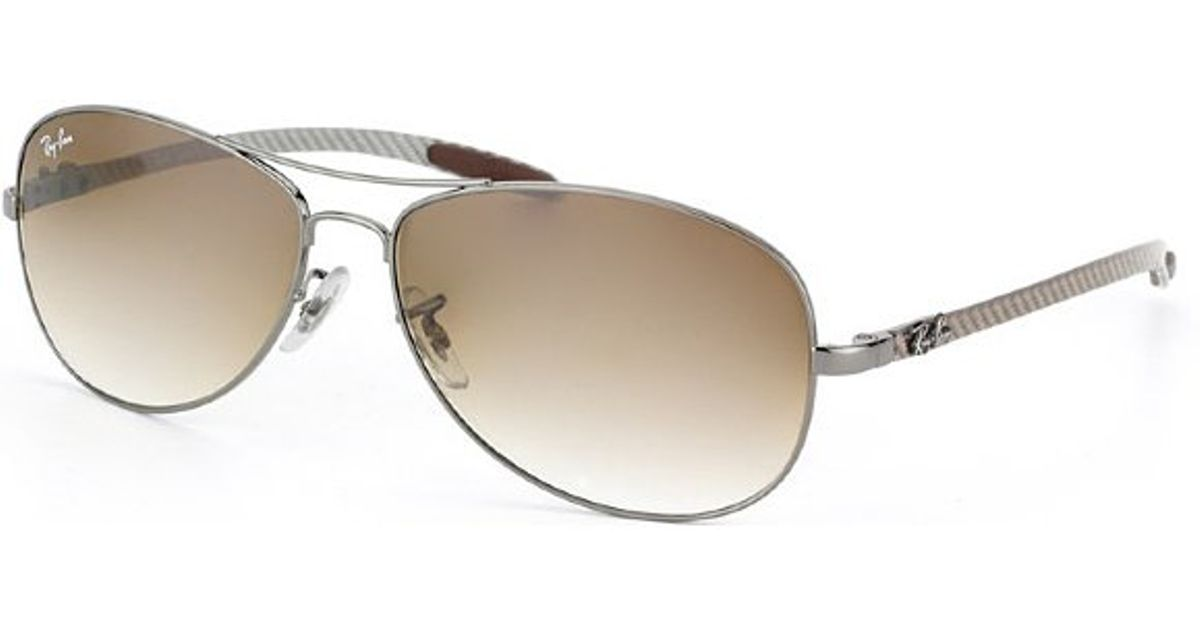 de0ebe48399e switzerland lyst ray ban ray ban tech rb8301 carbon fibre cockpit 004 51  aviator sunglasses in