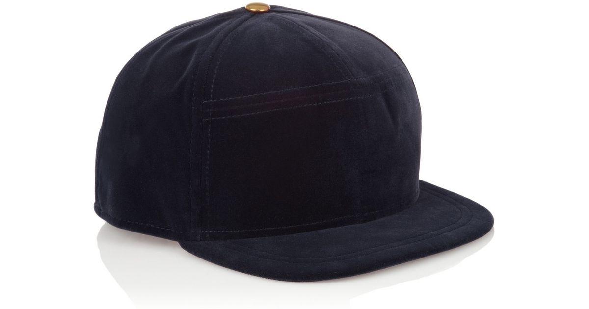 Lyst - House of Holland New Era Velvet Baseball Cap in Blue 5d4bde3826a3