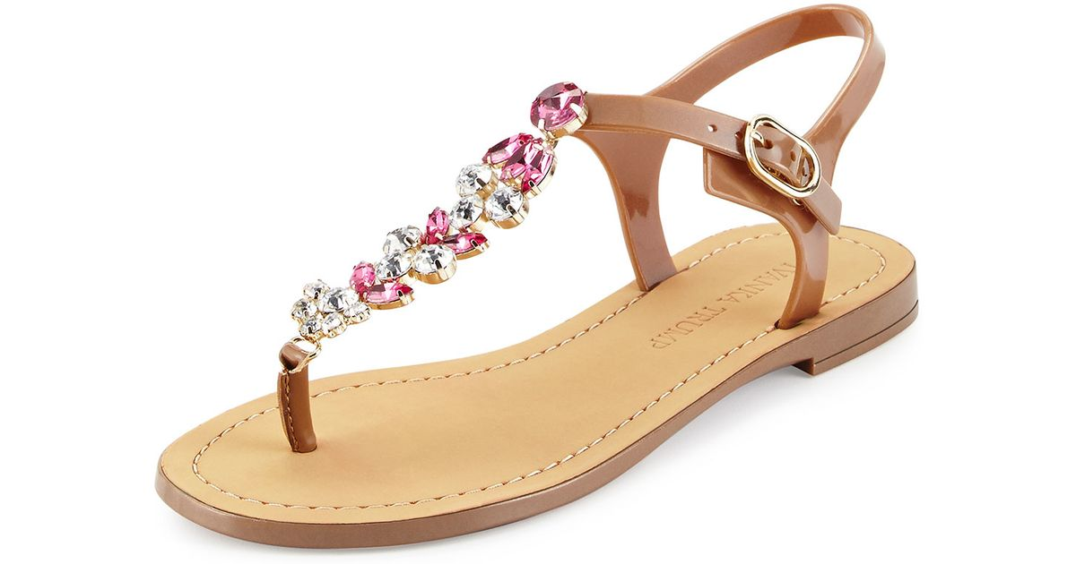 b9a7999e8 Lyst - Ivanka Trump Areya Jeweled Jelly Sandal in Natural