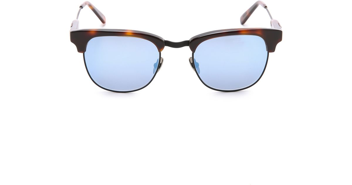 831e6fdef47 Lyst - Westward Leaning Vanguard 7 Sunglasses in Blue