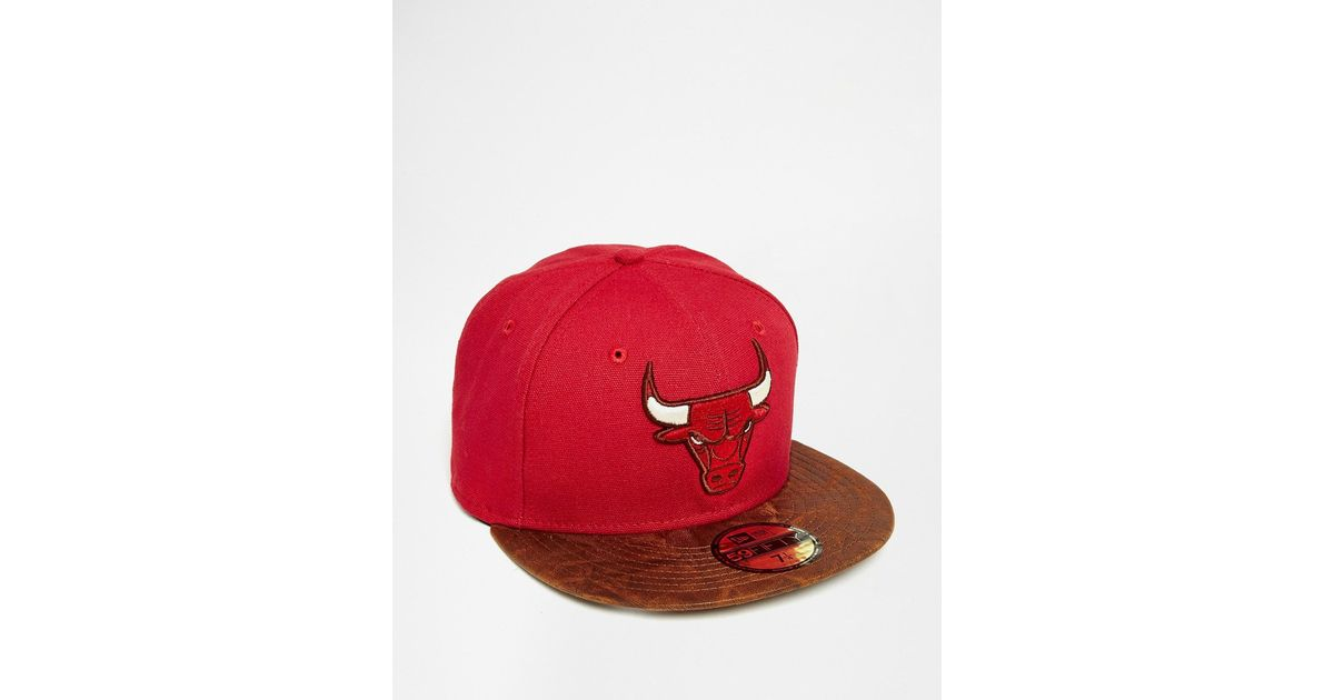 Lyst - Ktz 59fifty Team Down Chicago Bulls Snapback Cap in Red for Men 29a5737b04a7