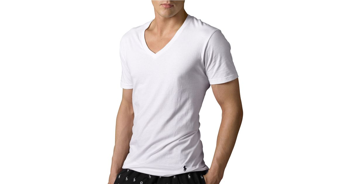 Polo Ralph Lauren Big And Tall Classic Cotton V Neck T
