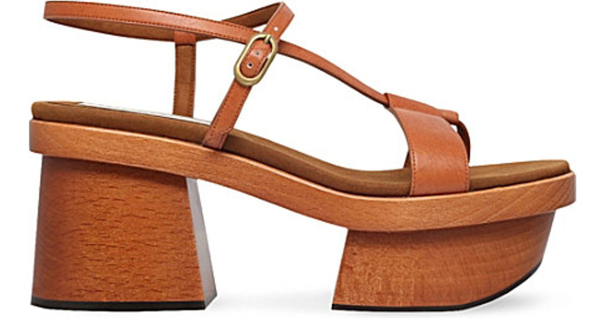 5bdd42c610d Lyst - Stella McCartney Altea Faux-leather And Wooden Sandals in Brown