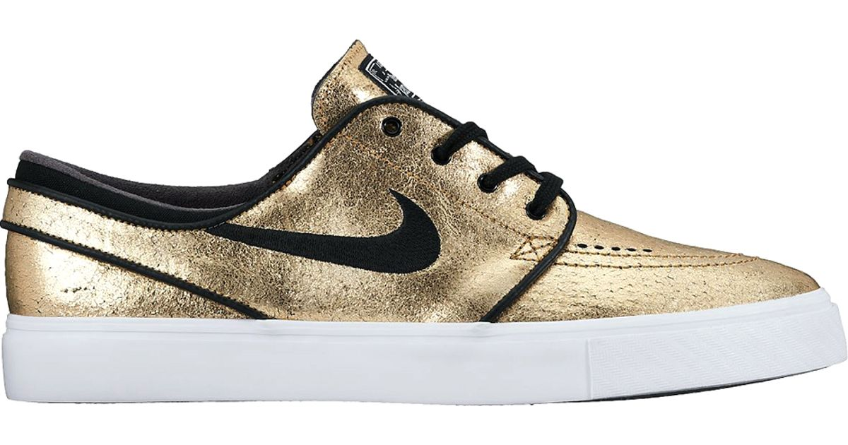 c9c7d2ff967b Lyst - Nike Sb Air Zoom Stefan Janoski Leather in Metallic for Men