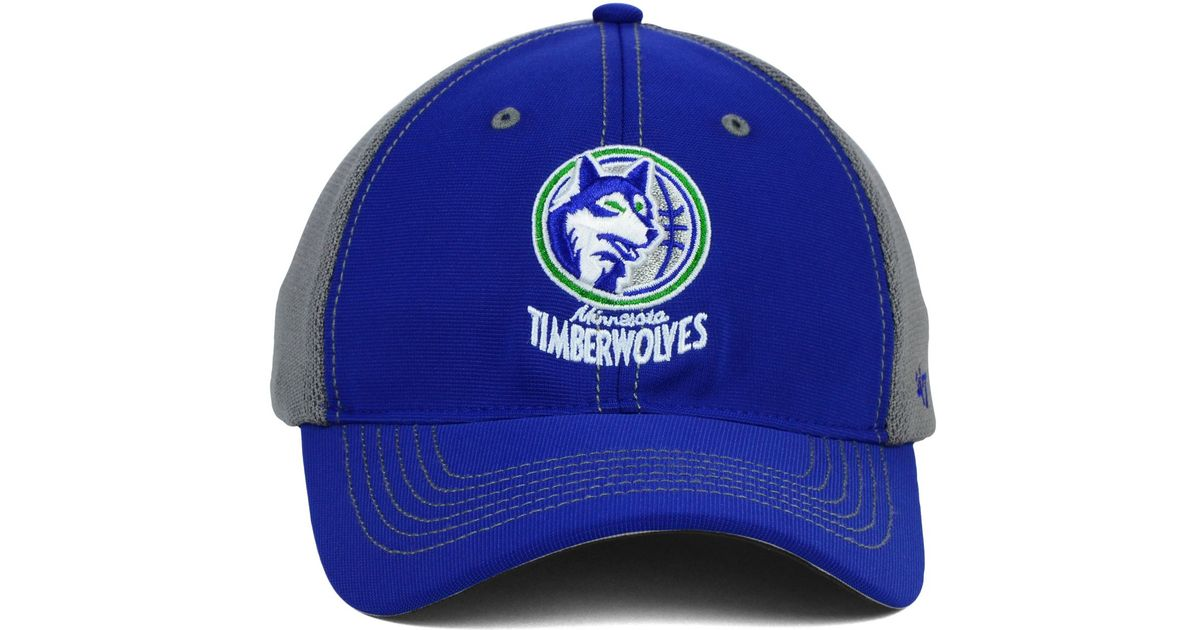 c4723923067 ... canada lyst 47 brand minnesota timberwolves reversal team color 47  closer cap in gray 9f8e3 9e52f