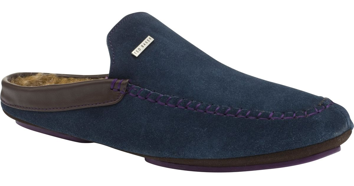 641b2951a Ted Baker Parkor Mule Slippers in Blue for Men - Lyst