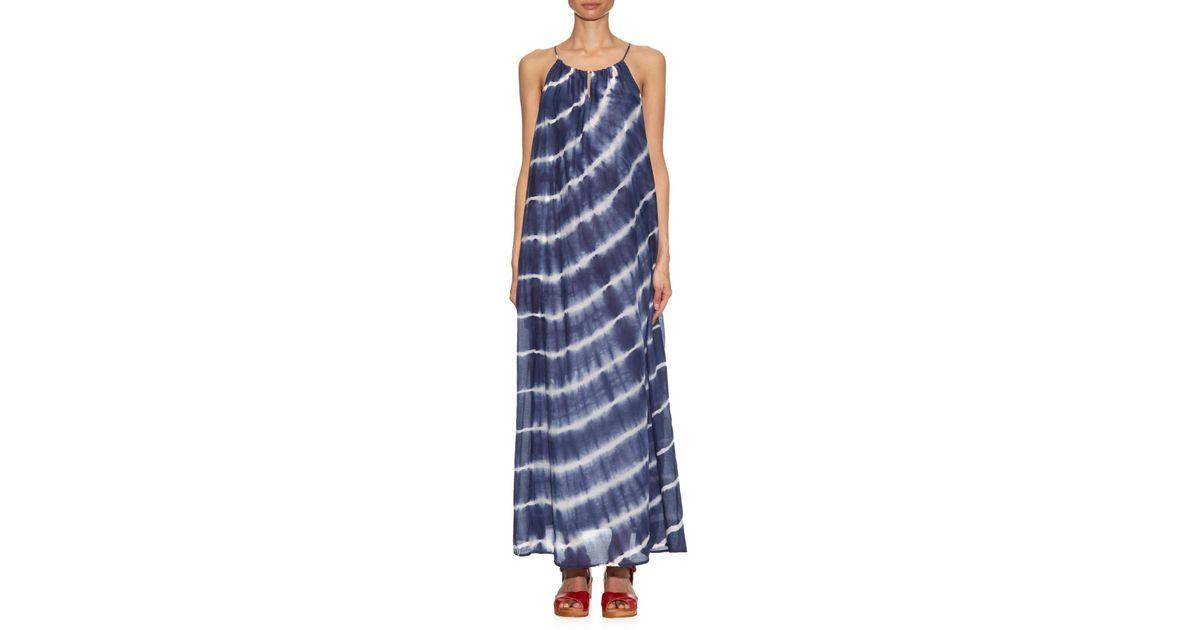Lyst Velvet By Graham Spencer Tie Dyed Maxi Dress In Blue