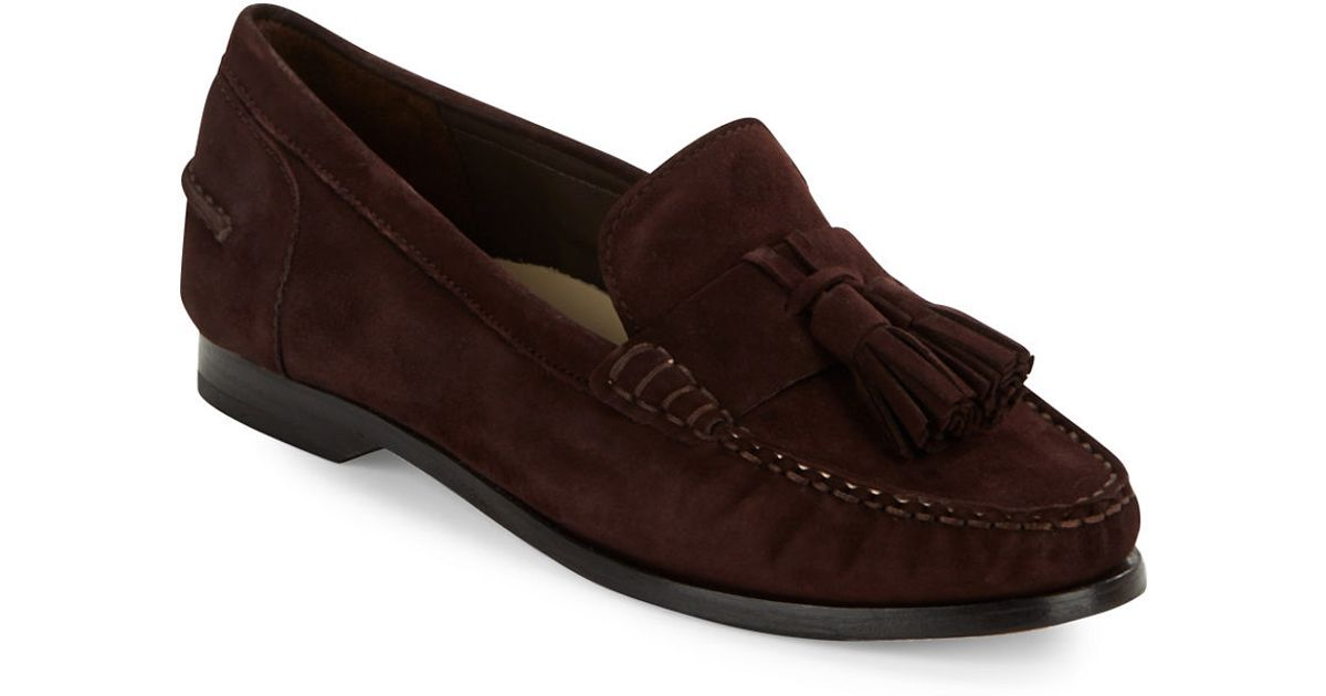 Cole haan Pinch Grand Tassel Loafers in Brown