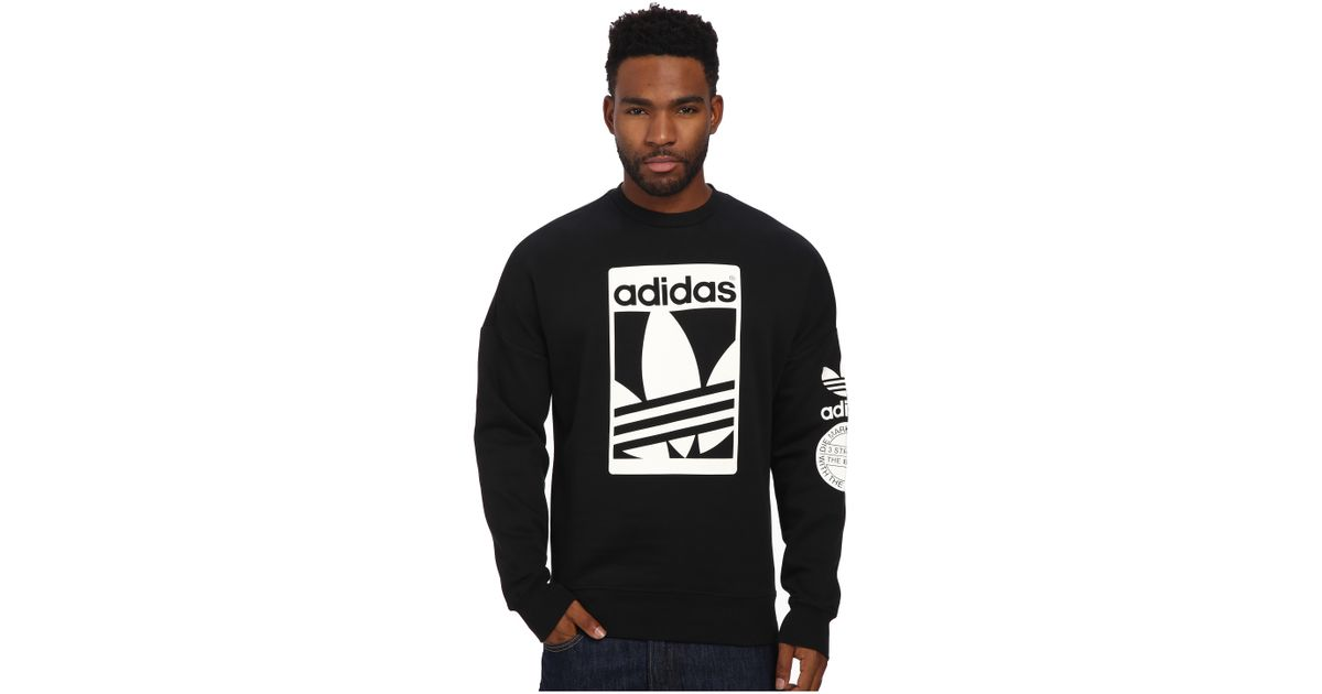 adidas pullover street graphic crew