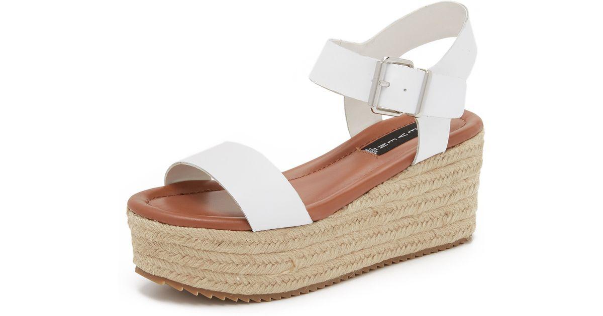 Steven By Steve Madden Sabbie Flatform Sandals In White Lyst