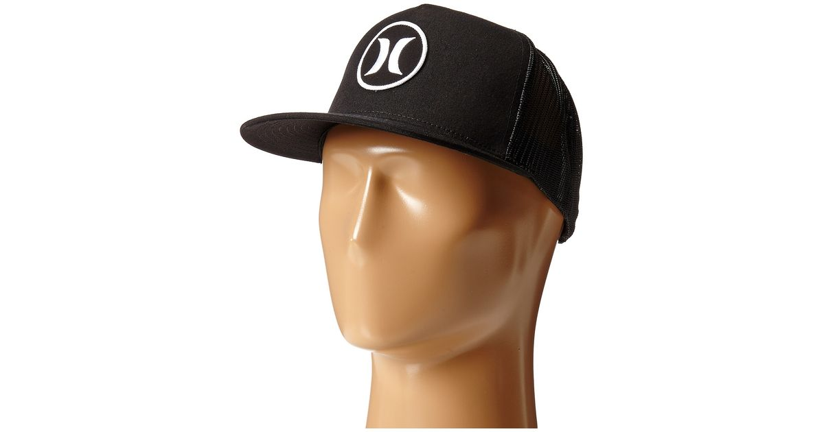 ... order lyst hurley block party movement trucker hat in black for men  21281 21a1f 76fee836a0b9