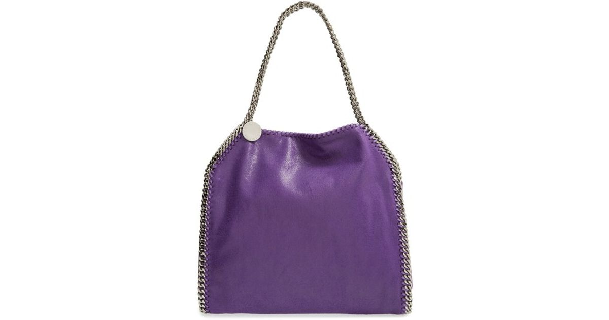 Lyst - Stella McCartney  falabella - Small  Shaggy Deer Tote - Purple in  Purple d7327ad2f34a1