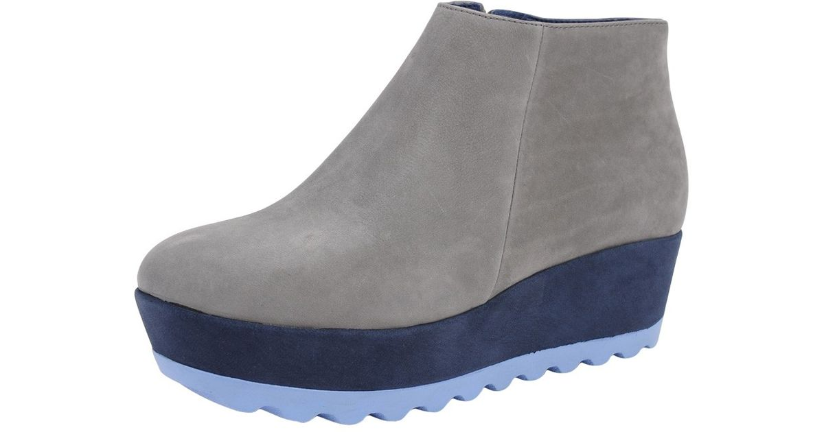 cer tri colored suede wedge boots in gray grey lyst