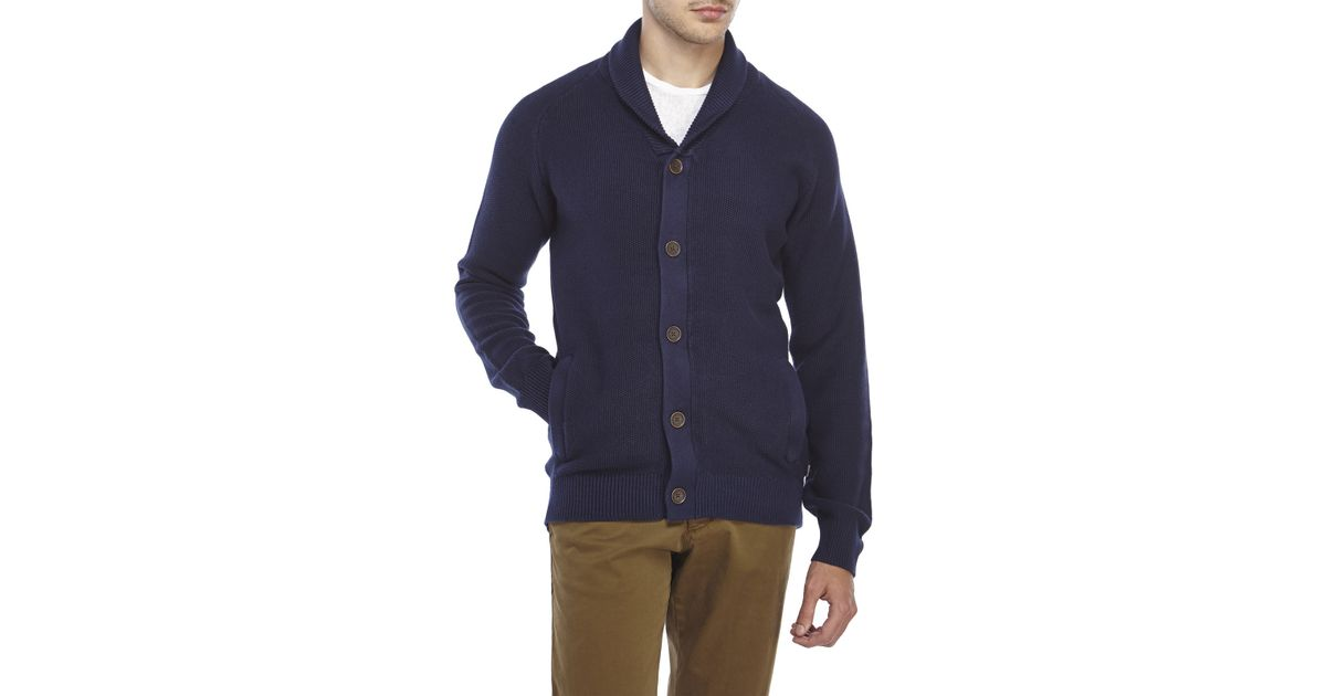 6584bddbcb2f Lyst - Timberland Shawl Collar Knit Cardigan in Blue for Men