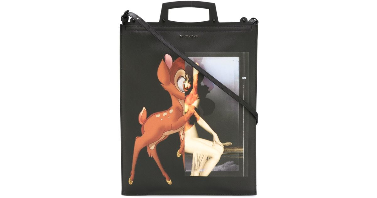 27056cd51a Lyst - Givenchy Medium  rave  Bambi Tote in Black