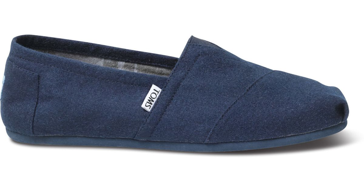 9435557bf4d Lyst - TOMS Navy Wool Men S Classics in Blue for Men