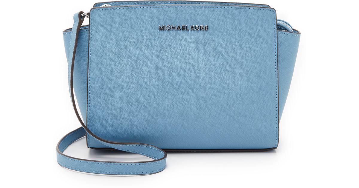 Michael Kors Selma Medium Laukku : Michael kors selma medium messenger bag in blue lyst