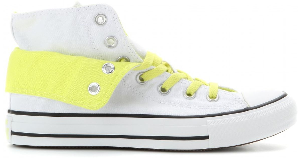 a7a1e3f34b4c Converse Chuck Taylor All Star Two Fold High-top Sneakers in White - Lyst