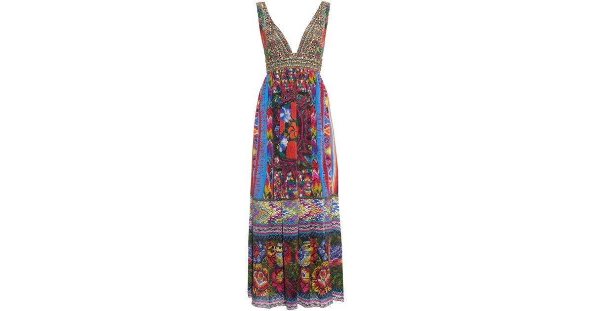 Camilla Woman Printed Silk Halterneck Mini Dress Orange Size 10 Camilla HRunl