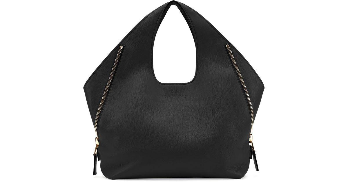 83de5f7ed2a8ae Lyst - Tom Ford Jennifer Side-Zip Leather Hobo Bag in Black