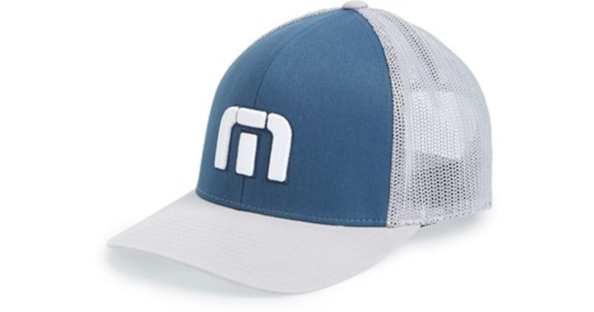 Lyst - Travis Mathew  sure Thing  Snapback Hat in Blue for Men 22be3779d72