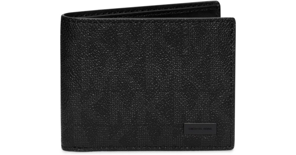 299785f6b0fb Lyst - Michael Kors Jet Set Logo Id Billfold Wallet in Black for Men
