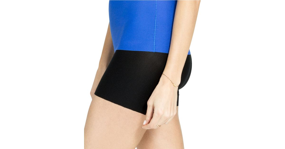 79beb8024dbf9 Lyst - Spanx Perforated Girl Shaper Shorts in Black