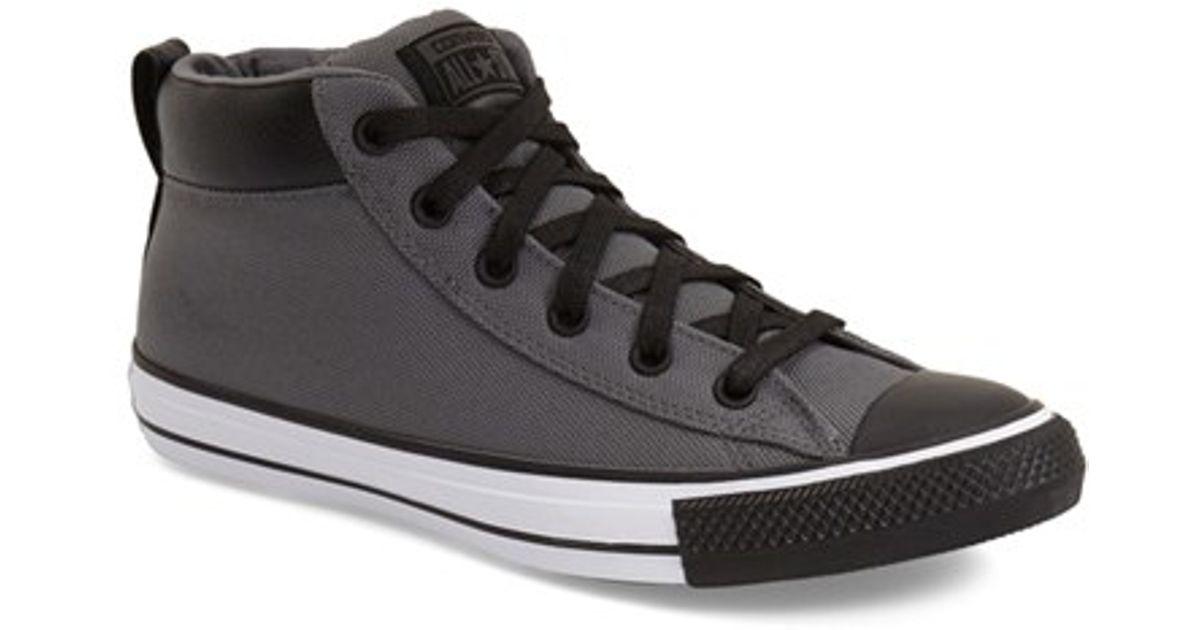 716b1b27ffb7 Lyst - Converse Chuck Taylor All Star  Street  High Top Sneaker in Black  for Men