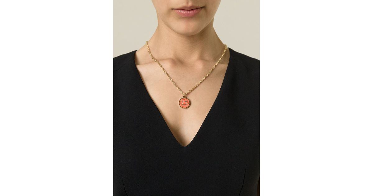 Marc Jacobs disc-pendant necklace - Metallic U4khN