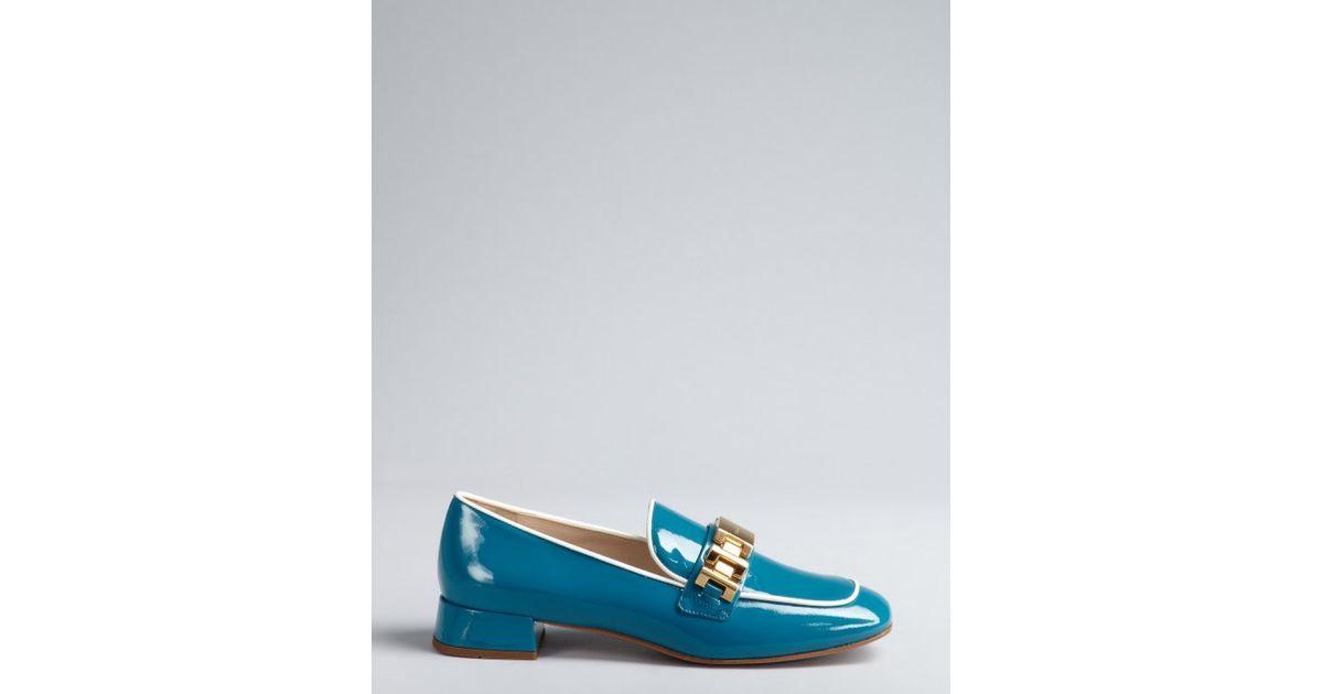 prada turquoise leather belt