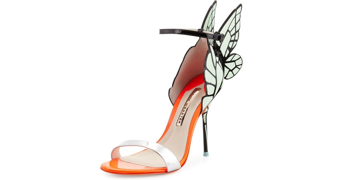 24bfe75dfbd8 Lyst - Sophia Webster Chiara Butterfly Wing Sandal in Orange