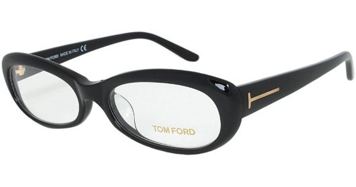 844a18266e8 Lyst - Tom Ford Tf5180 001 Oval Eyeglass Frame in Black