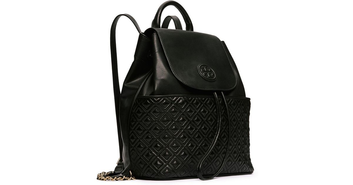 cc9c2c6a8e Lyst Tory Burch Marion Quilted Backpack In Black
