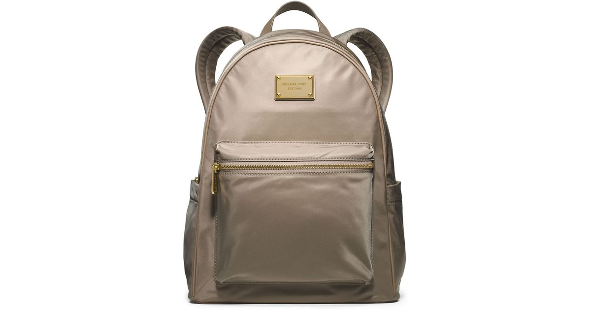 cdb77f8ab9d1ce Lyst - Michael Michael Kors Jet Set Nylon Large Backpack in Natural