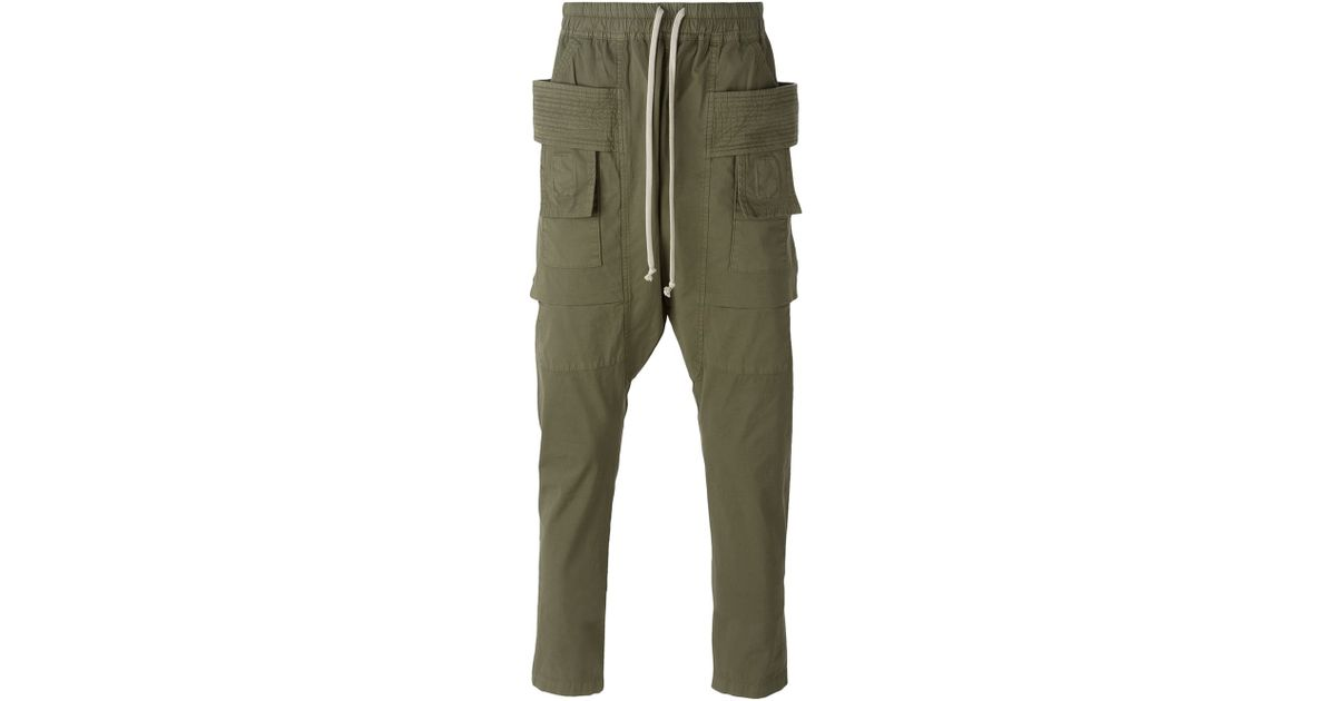 92e98328f46a Lyst - DRKSHDW by Rick Owens Drop Crotch Cargo Pants in Green for Men