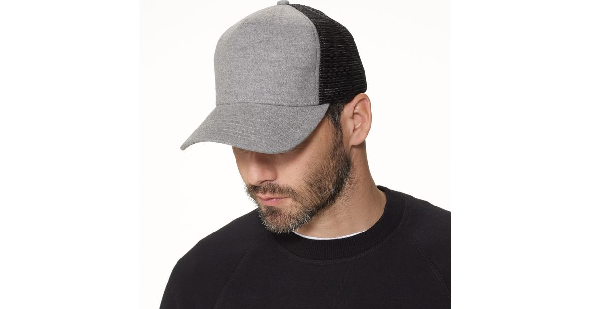 2c781e48112 Lyst - James Perse Cotton Flannel Trucker Hat in Gray for Men