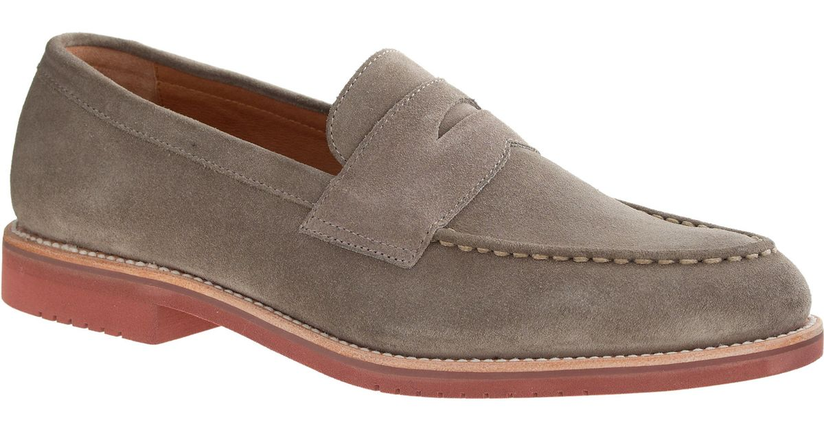2f584a27087 J.Crew Kenton Suede Penny Loafers in Gray for Men - Lyst