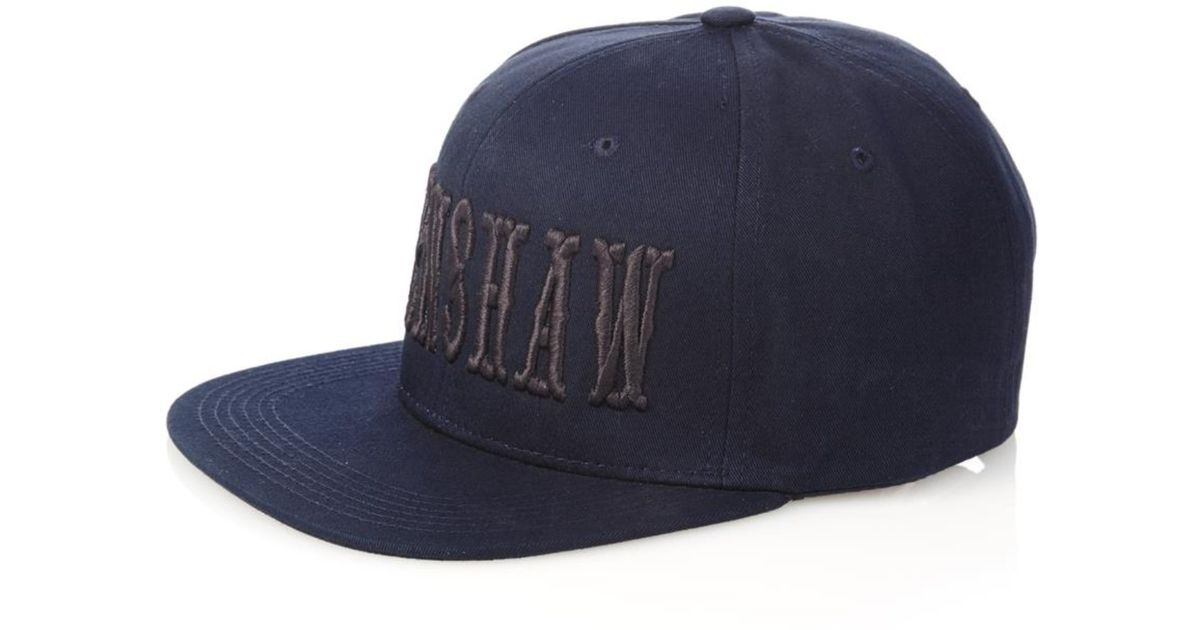 Longjourney Crenshaw-Embroidered Cotton Cap in Blue for Men - Lyst 8a82ba8b4a9d