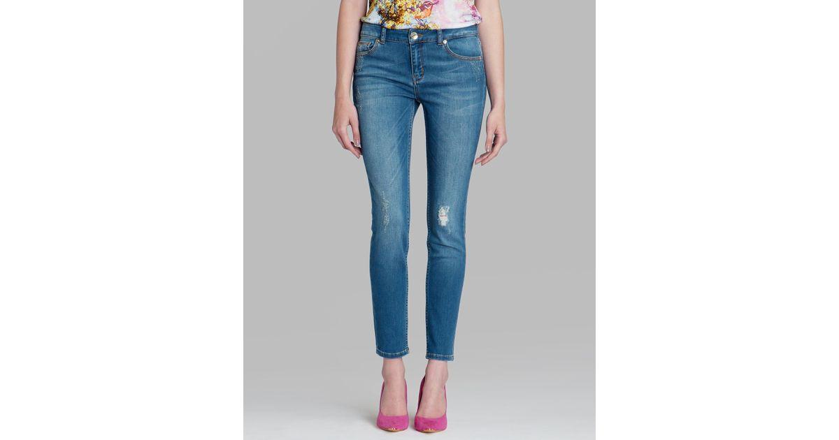 c5b630336 Lyst - Ted Baker Jeans - Frossia Skinny Abrasion In Light Wash in Blue