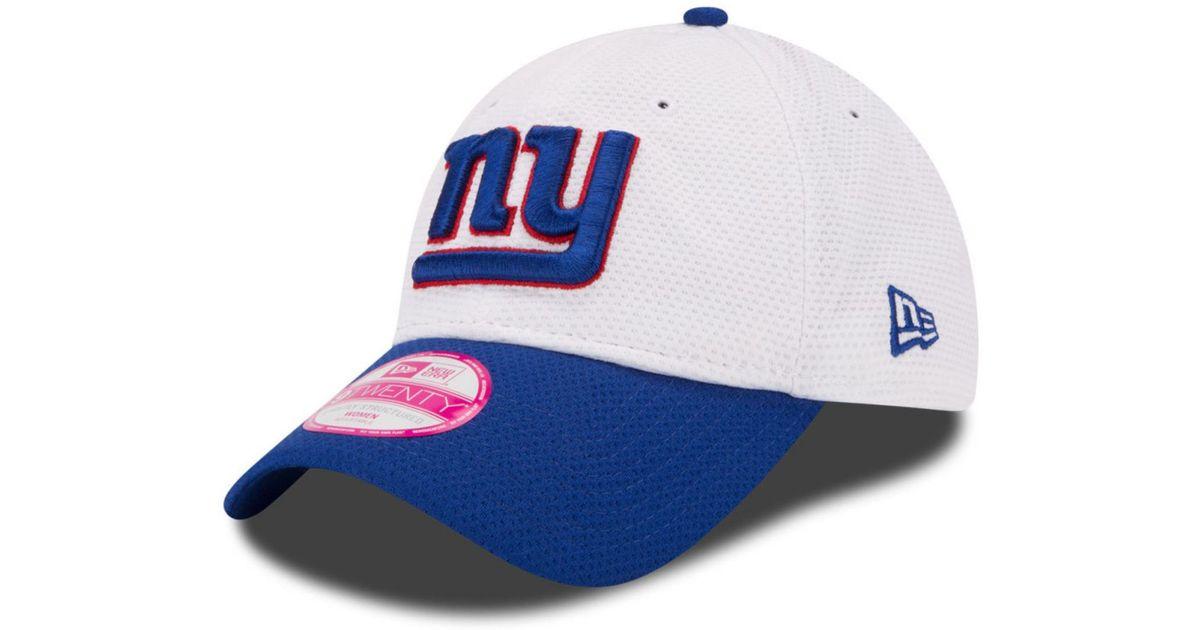 a21f75eb84f Lyst - Ktz Women s New York Giants Training Camp 9twenty Cap in White