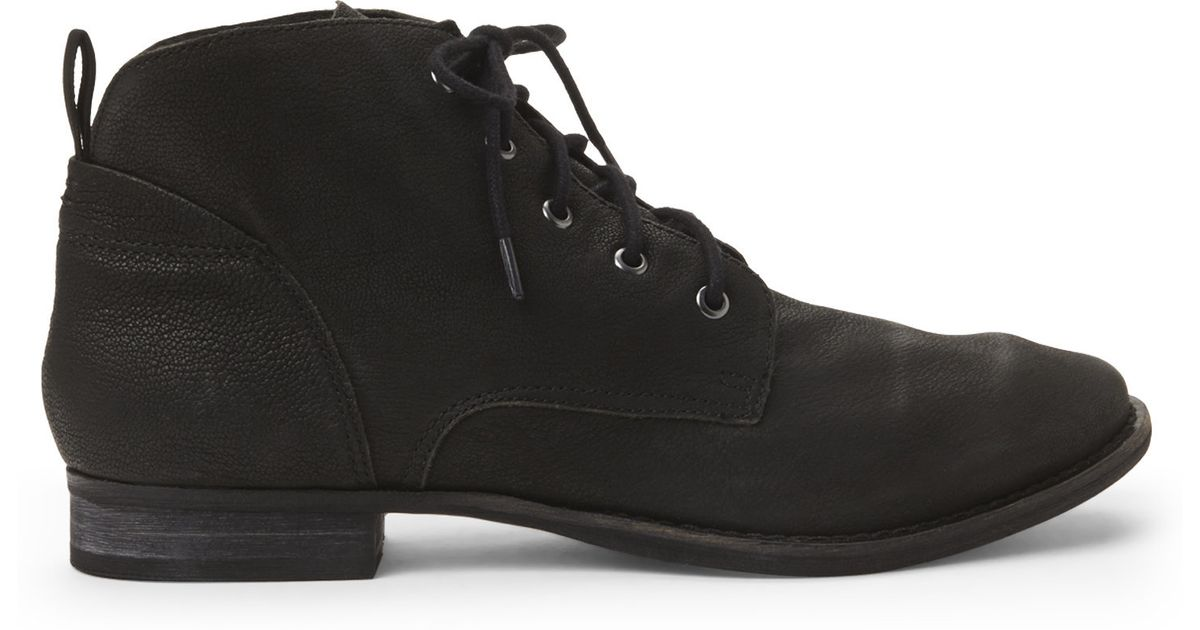 eb5a209c65634 Lyst - Sam Edelman Black Mare Lace-Up Boots in Black