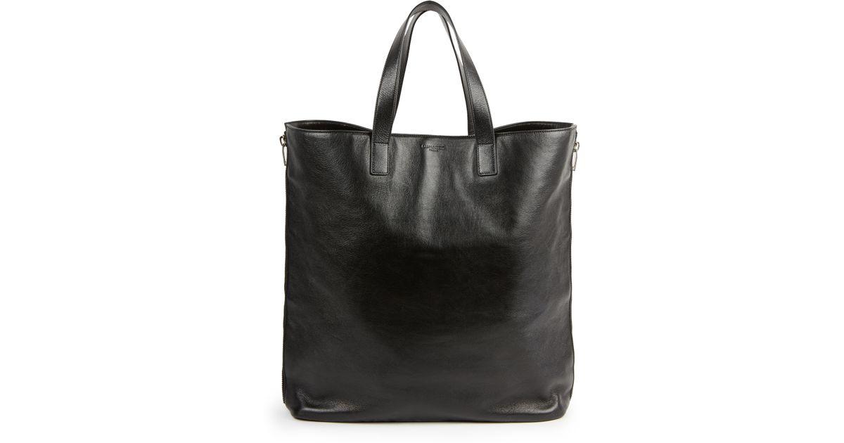 3dc48dd01f4f0 Lyst - Saint Laurent Double-Zip Shopper Tote in Black for Men