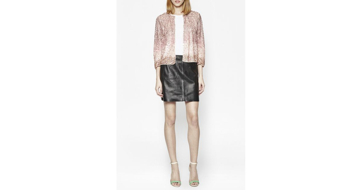 9089d89338a French Connection Sunbeamer Sequin Jacket in Pink - Lyst