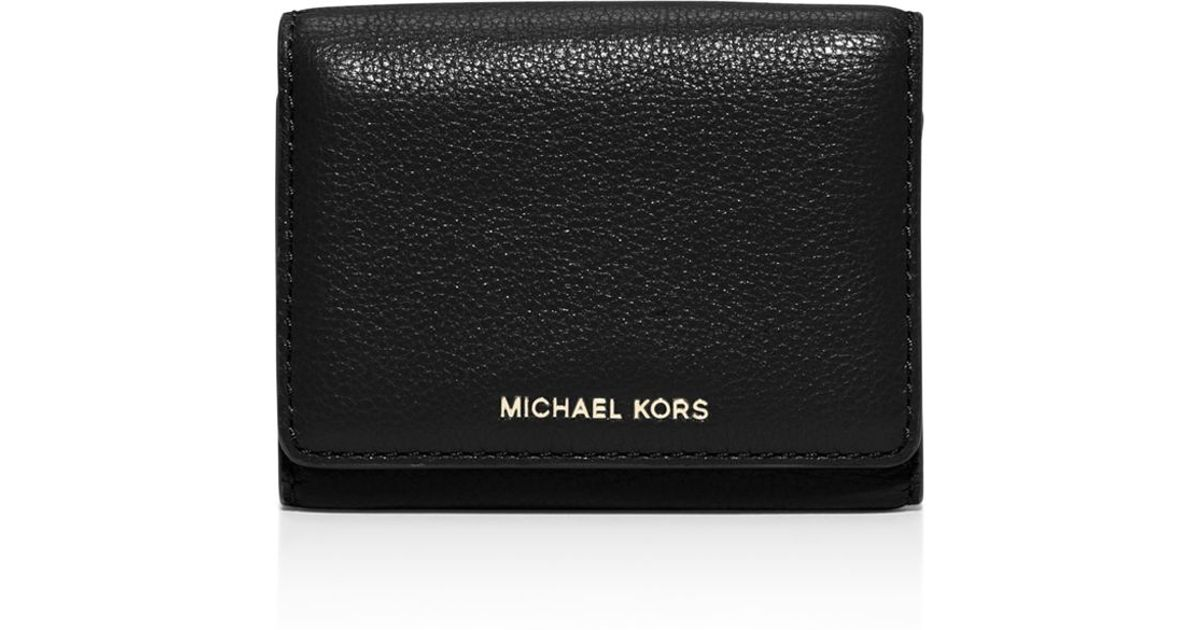 77c4b79fb94a Michael Michael Kors Liane Small Billfold Card Case in Black - Lyst